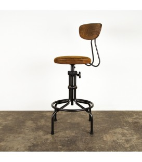 Buck皮革吧檯椅(棕色)