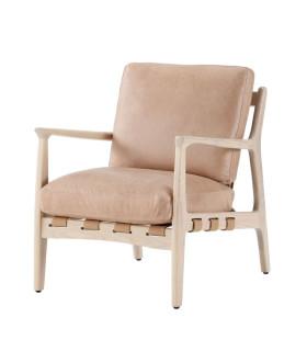 At Ease 扶手沙色皮革椅