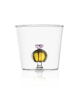 CACTUS 水杯 - 粉花琥珀色仙人球