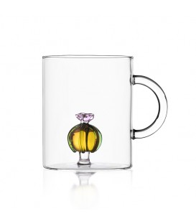 CACTUS 馬克杯 - 粉花琥珀色仙人球