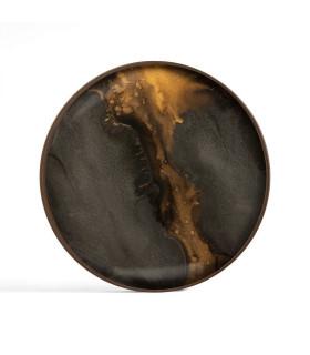 Bronze Organic 玻璃圓托盤