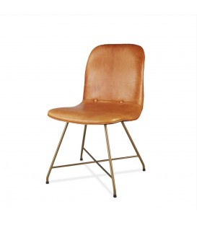 Detroit 皮革鈕扣餐椅